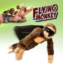 free sample Cute Flying Screaming Monkey Slingshot Plush Animal Funny Toys Gifts flying monkey flying anmial toy with sound