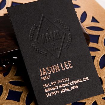 High end speciality paper business card printing embossed business card