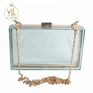 fashion office transparent acrylic clutch evening bag for girls
