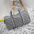 Sports Travel Gym Diagonal Bag Waterproof Sneaker Stripe Duffle Bag