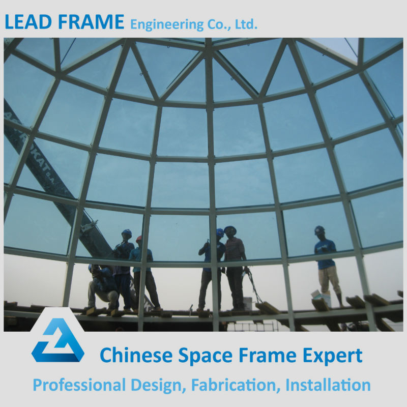 China Supply Space frame glass roof construction