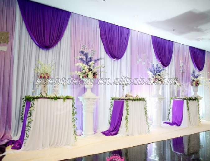 Curtain Wall Church : Luxury design curtain wedding stage drape decor church