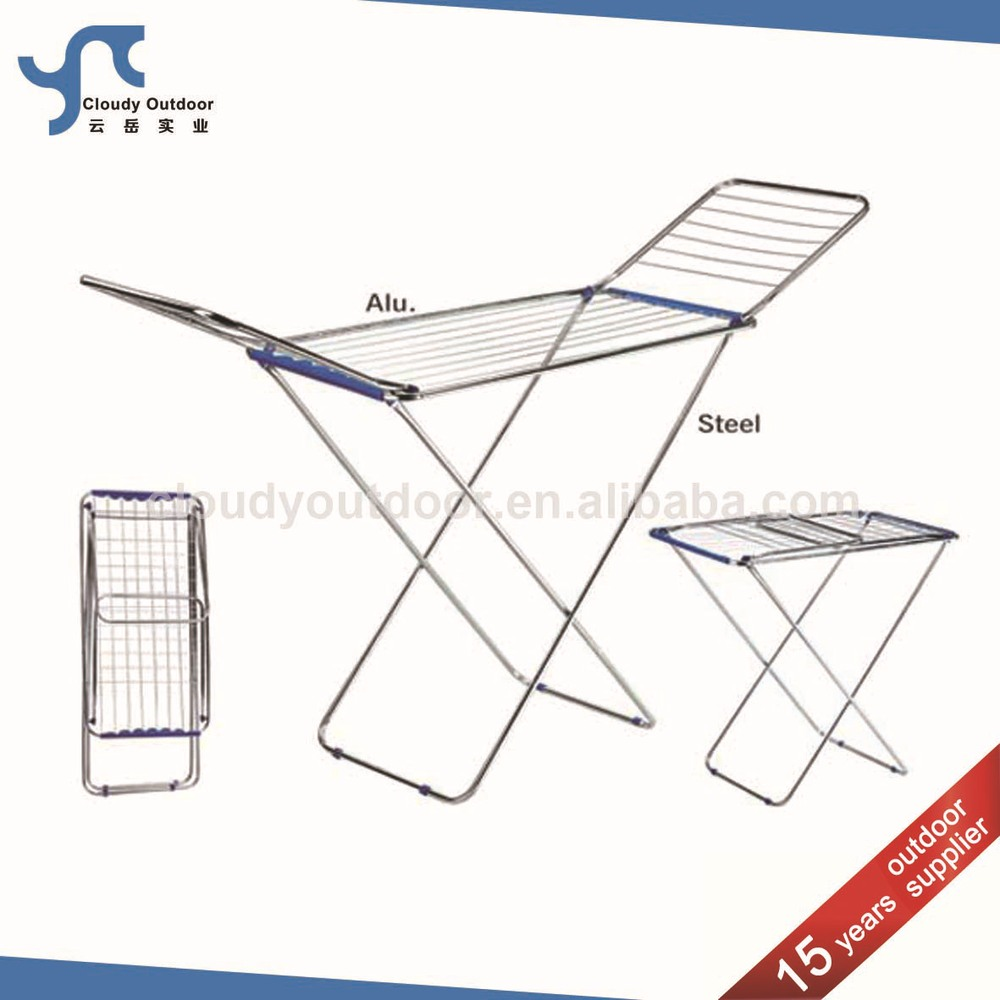 Modern movable folding cloth drying rack