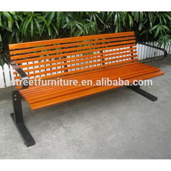 Outdoor Garden Wood Bench Seat With Mild Steel Bracket Buy
