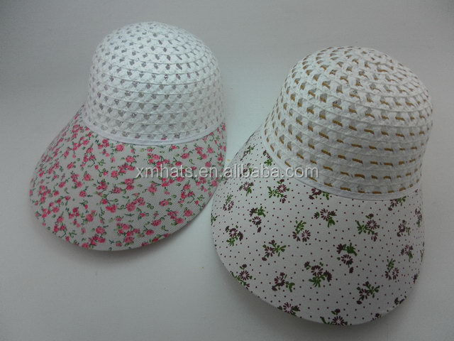 China gold manufacturer hot selling fashion paper straw sun visor cap