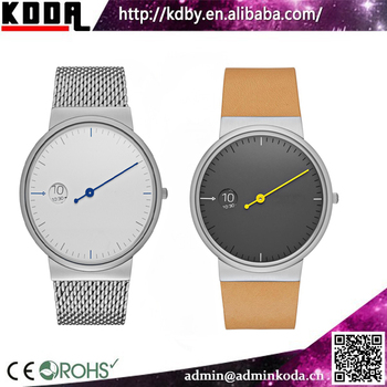 One Hand Water Resistant Quartz Watches 3 Bar Retro Watch