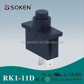 Soken Top Selling Two Way Round Push Button Rocker Switch T125 55