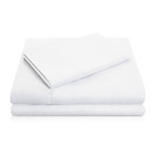 Egyptian Comfort 1800 Count 4 Piece White Deep Pocket Bed Sheet Set