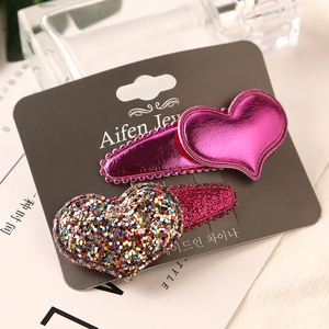 Wholesale Cute Kids Girls Hair Clips Baby Glitter Toddler Barrettes Hair Accessories