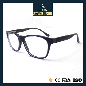 Classic Acetate Eyewear Men Big Round Lens Black Glasses Frame ...