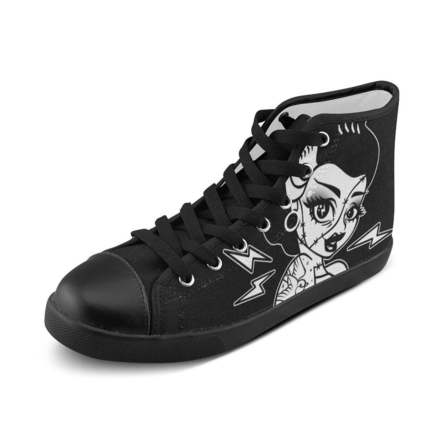 556a259cfa4c35 Get Quotations · Artsadd Artsdd Custom Frankie Pinup Chuck Taylors High Top  Canvas Shoes For Womens(Model002)