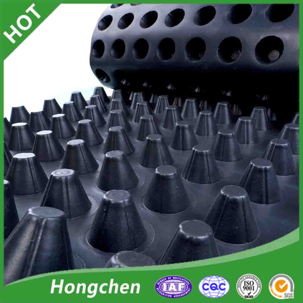 HDPE black and white color dimple drain board for garden drainage