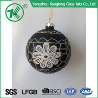 wholesale Custom hand painted christmas ball ornaments crafts for christmas tree decoration