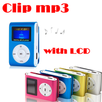 Promotional gift Clip MP3 player music player with screen 1GB-8GB
