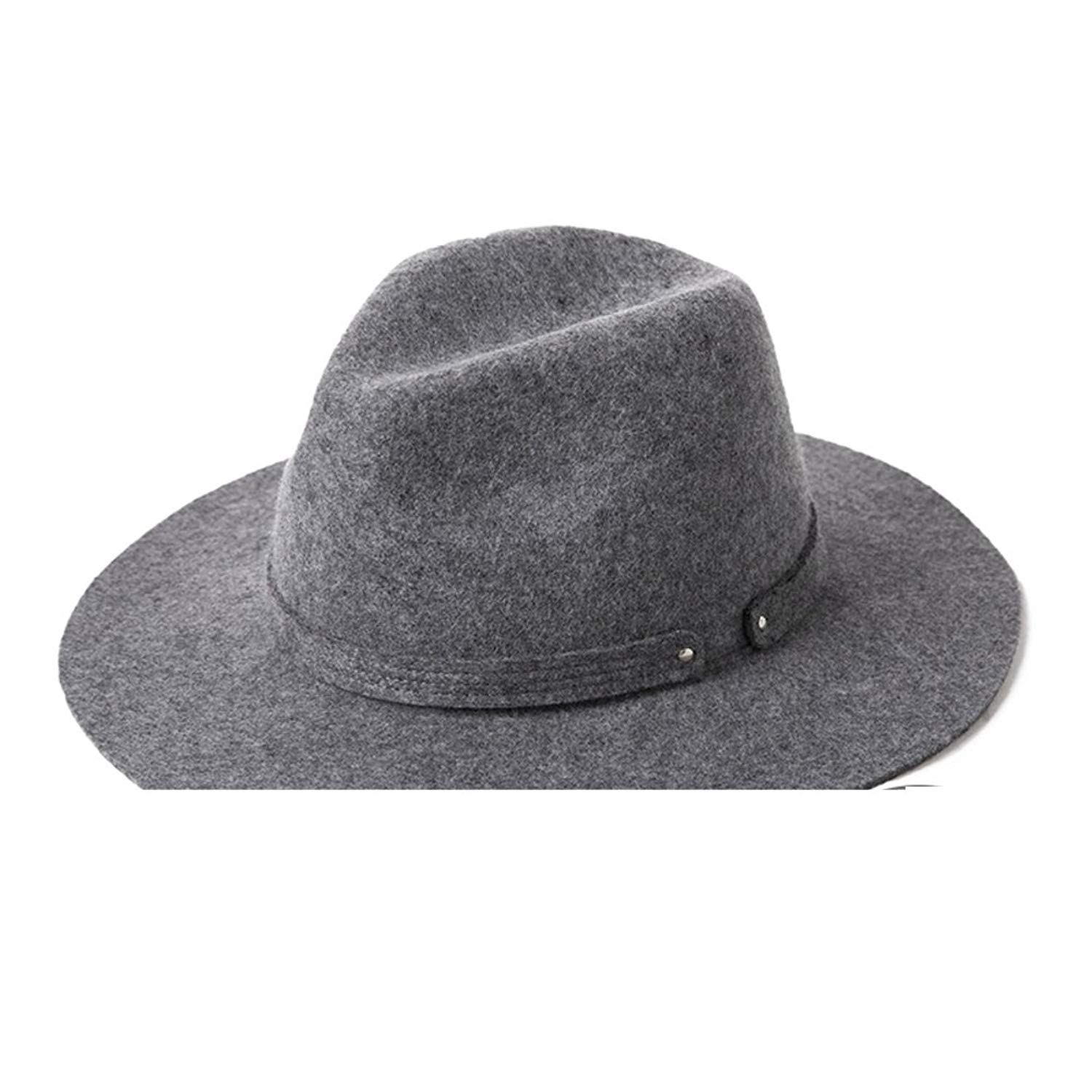 603cf71313e Get Quotations · Hat  winter wool felt hat  Trilby Fashion classic bucket  Hat Top hat