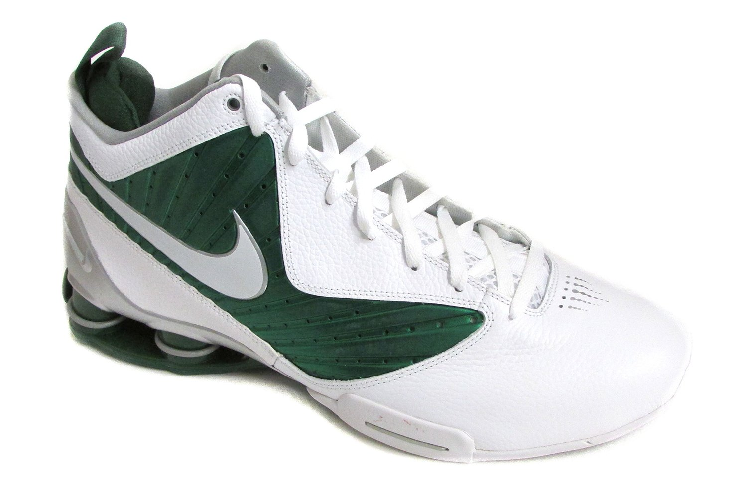 44d65fc3b2c6 Get Quotations · Nike Men s Shox BB Pro TB Basketball Shoes White Green