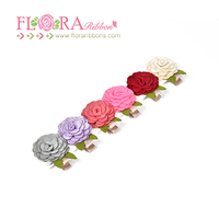 Customized baby rose decoration banana metal hair cutting clips