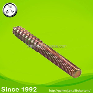 Furniture connecting fitting zinc plated two heads screws special head screw