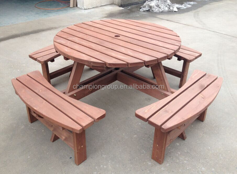 Outdoor wood round picnic table set buy wood round picnic table outdoor wood round picnic table set buy wood round picnic table setwood picnic table and benchbbq table set product on alibaba watchthetrailerfo