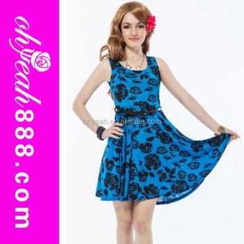 12e0d9e8a7 2016 nueva moda de verano desgaste hermoso vestidos para adolescentes