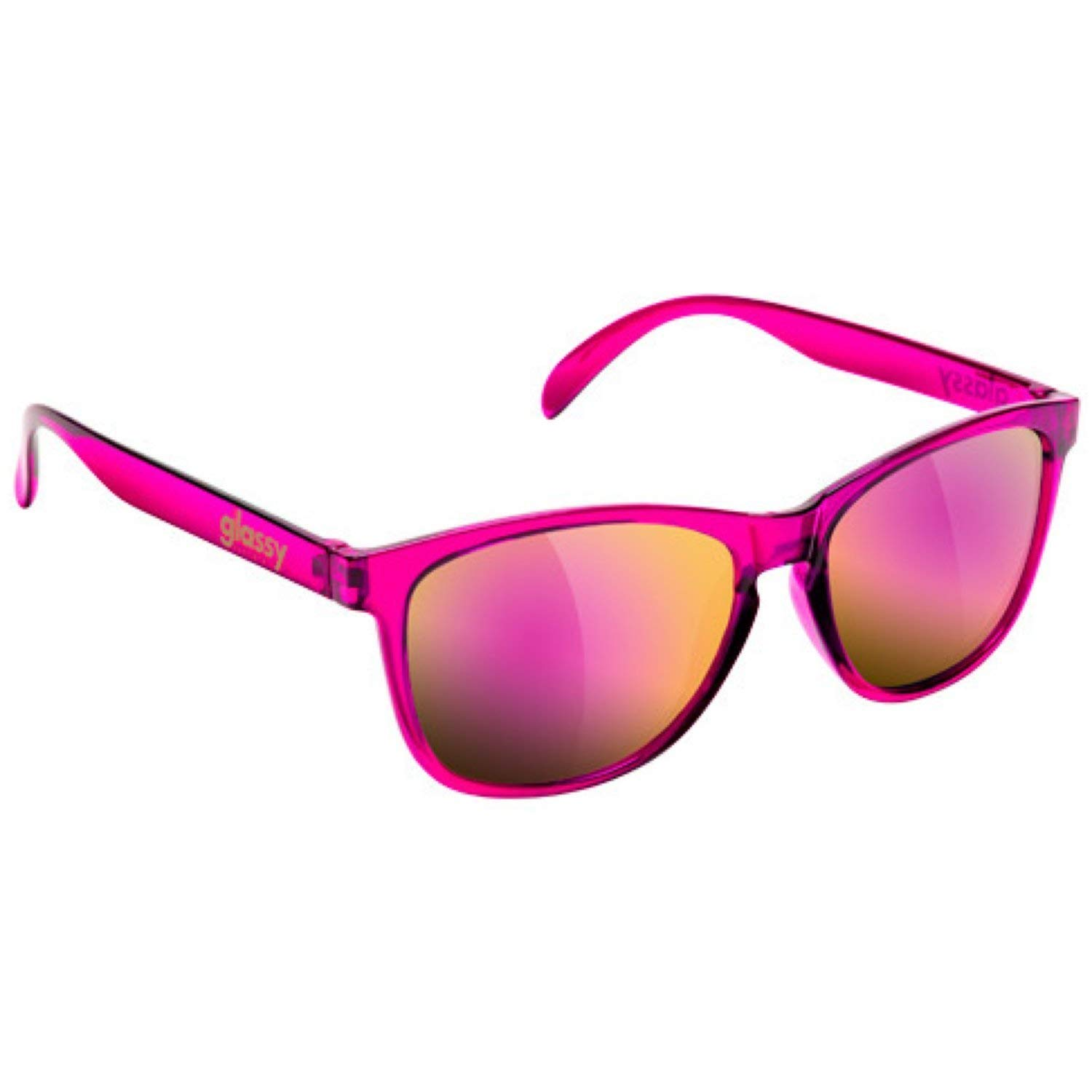 d4fa9266ab Get Quotations · Glassy Sunglasses Glassy Deric Sunglasses - Transparent  Pink Pink Mirror Cancer Hater