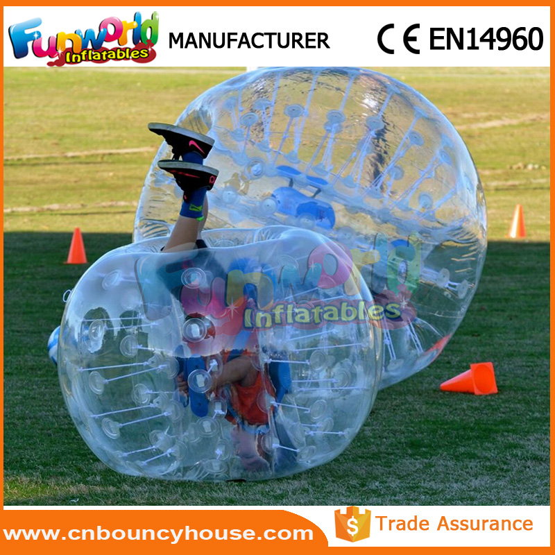 Inflatable knocker soccer bumperz bubble ball loopy ball
