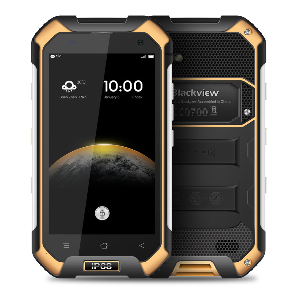 4.7inch HD IP68 Waterproof Android 6.0 MT6735 Quad-core 2GB 16GB 8.0MP NFC 4200mAh Blackview BV6000S Rugged 4G LTE Smartphone