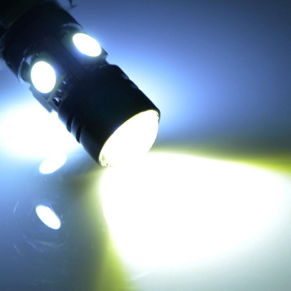 Quaanti Car Light Bulb,10 pcs T10 5630 6SMD W5W Car 12V LED Tail Brake Rear Light Lamp White Multicolor