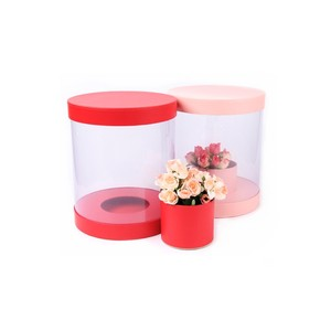 New Style High Quality Round Flower Packing Gift Boxes With PVC