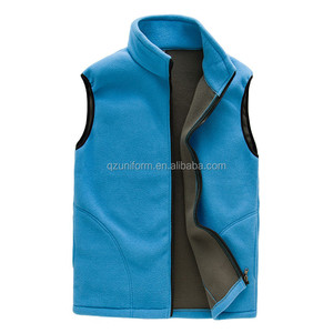 Mens Workwear Blue Polar Sleeveless Fleece Vest