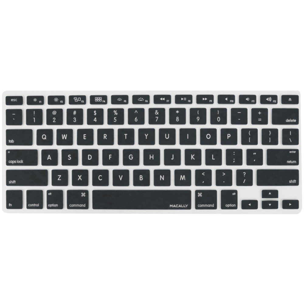 1 - MacBook Pro(R)/Air(R) Keyboard Protective Cover (Black), Keeps Macbook protected from accidental spills & unwanted dust, Premium silicon overlay gives MacBook(R) a personal touch & keeps keyboard clean & dry, Flexible, washable & easy to apply & remove for cleaning or disinfecting