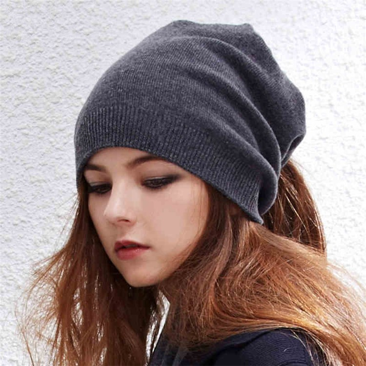 86168c63a8853 Custom Women Cashmere Beanie Cashmere Knitted Slouch Beanie Hat ...