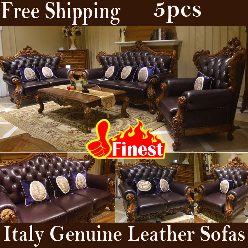 Order Furniture Online Free Shipping: Popular Leather Cowhide Sofas-Buy Cheap Leather Cowhide