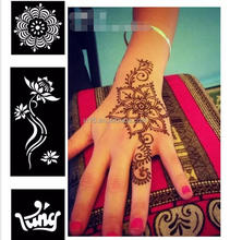 Reusable henna design tattoo stencils