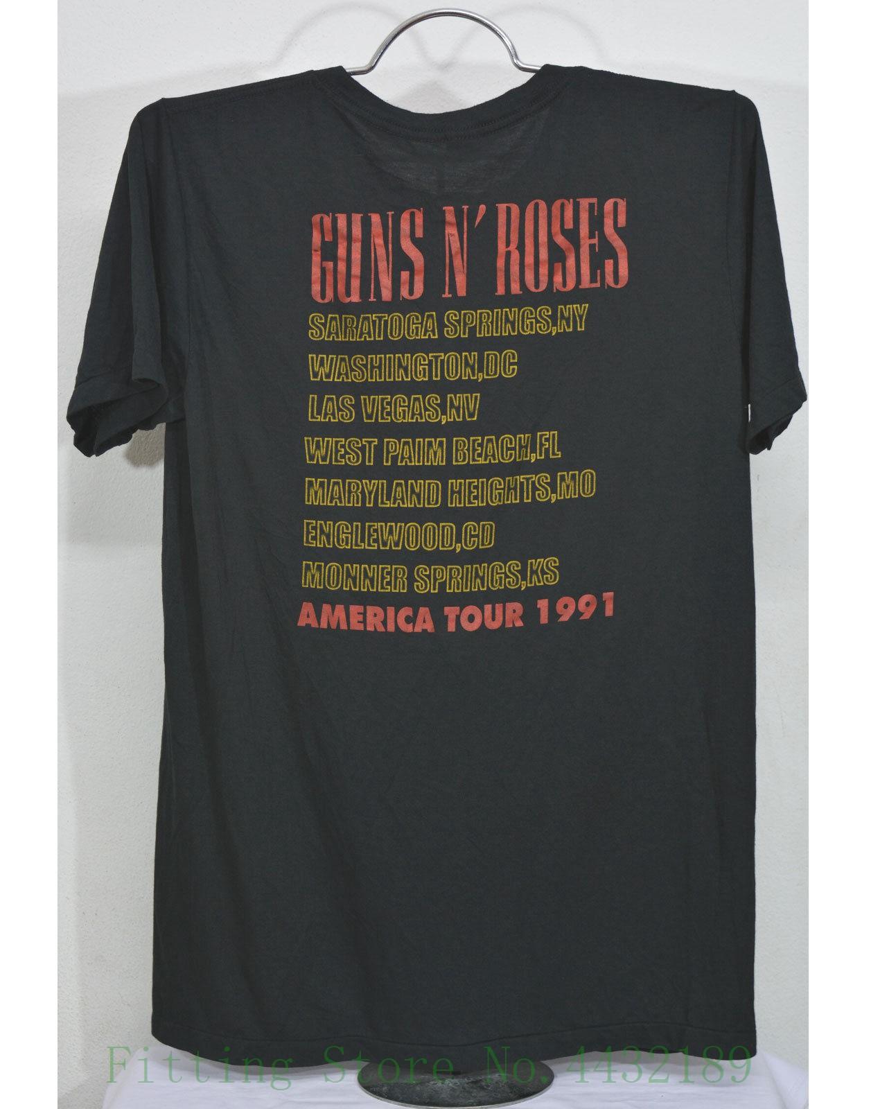 3fc401e0 Men's Guns N Roses Skull T Shirt Punk Rock Band Vintage Black Unisex New  Size L Men And Woman T Shirt Free Shipping