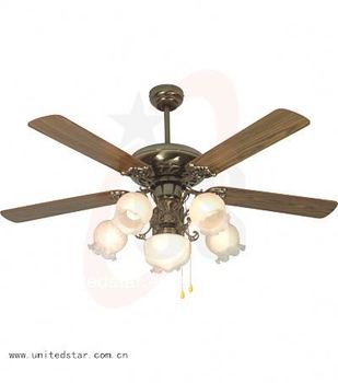Decorative Light Electric Wood Blade Ceiling Fan