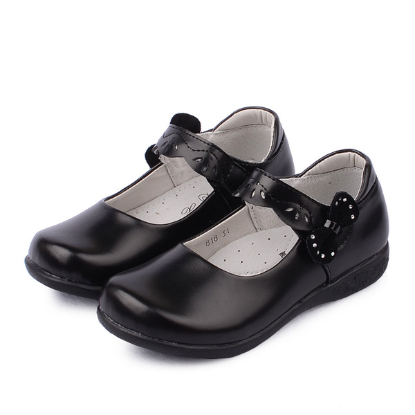 Leather school uniforms shoes girls black school shoes