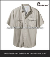 summer short sleeve men's fishing shirt