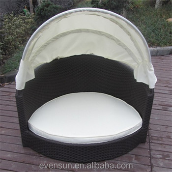 Nice Look Wicker Dog Bed And Canopy