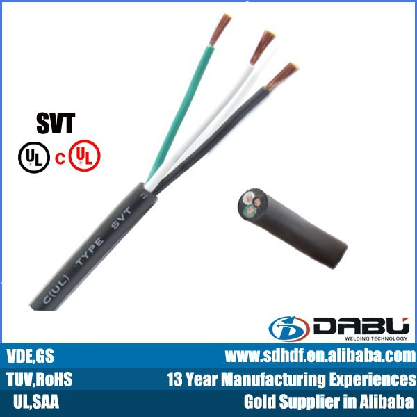 Svt 3c*16awg 105 Degree Power Cable For Home Appliance