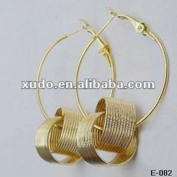 Discount!!! handmade alloy bamboo 2012 fashion earrings for women