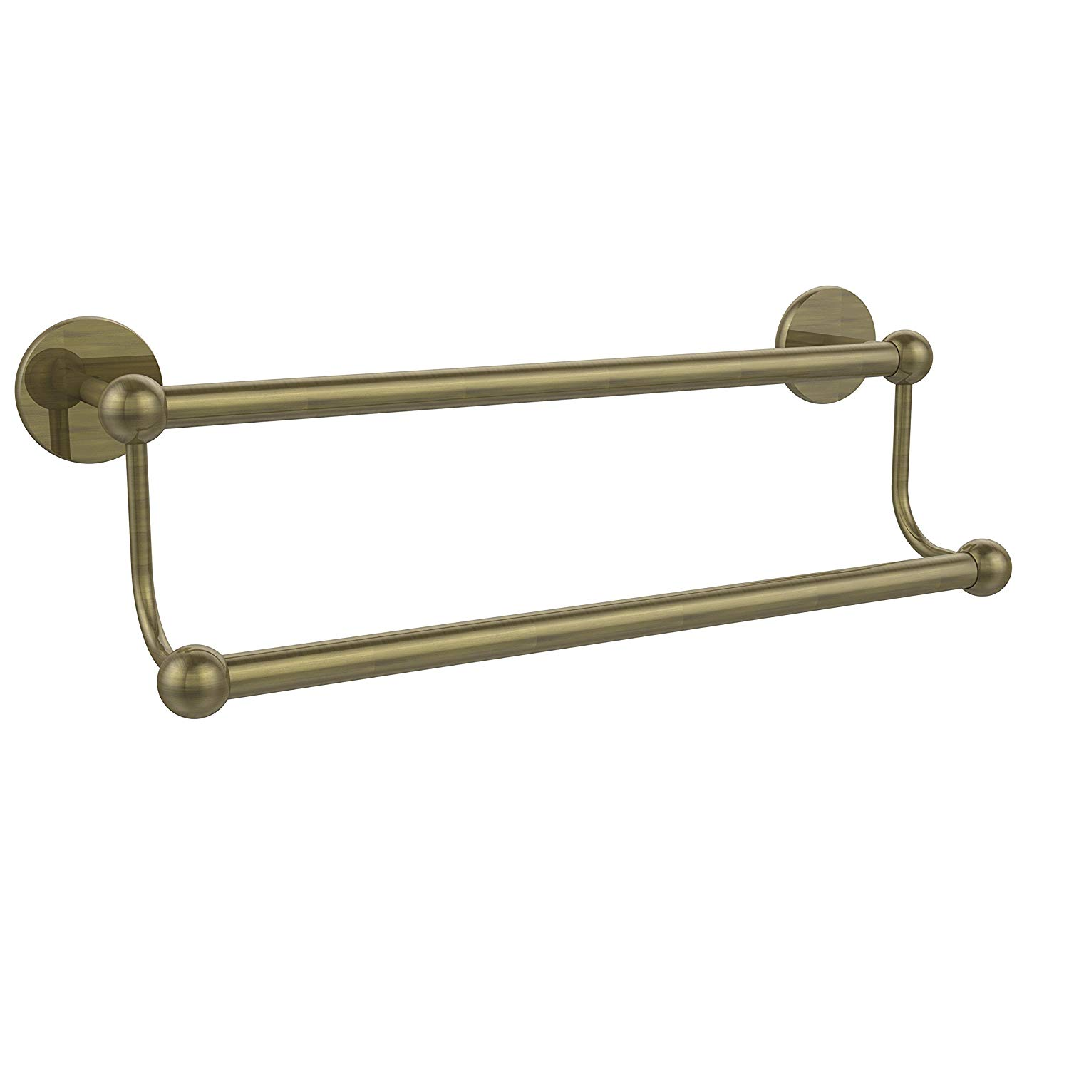 "Allied Brass 18"" Double Towel Bar Antique Brass"