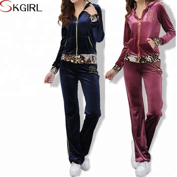 Winter autumn yoga running leopard print sport hooded velour tracksuit  custom women 70487dfad9