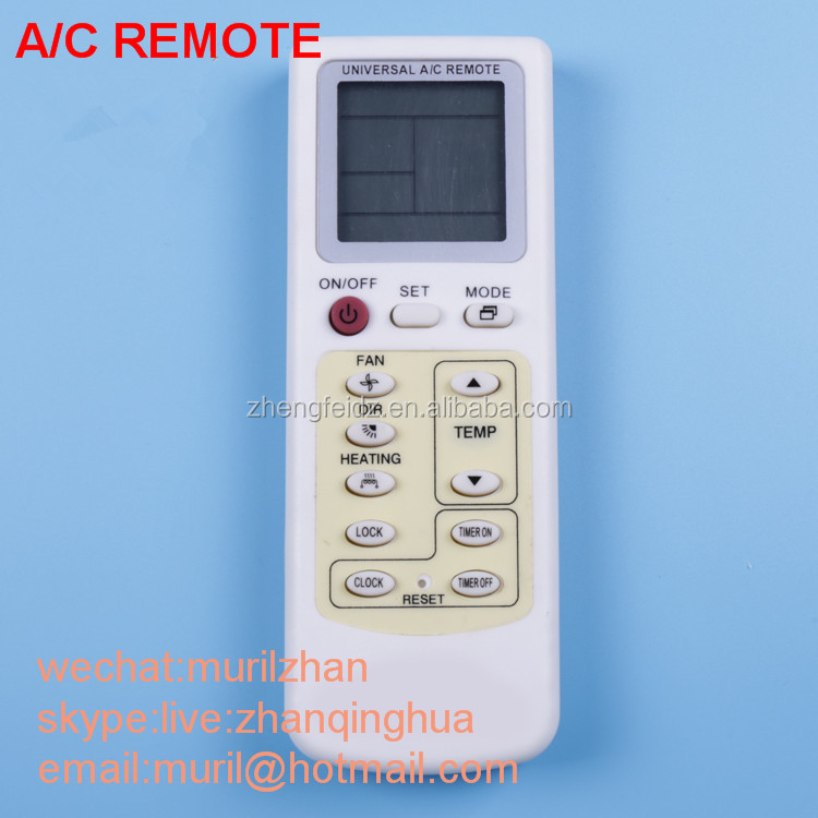 High Quality White 13 Keys Air Conditioner Remote Control For ...