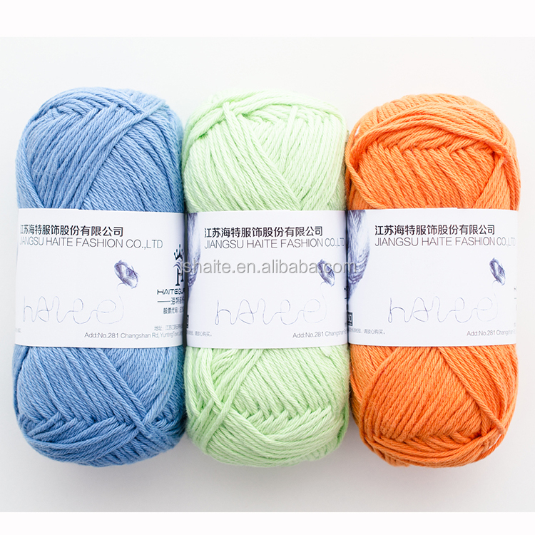 Super fine 100% cotton dyed dk weight yarn for crochet