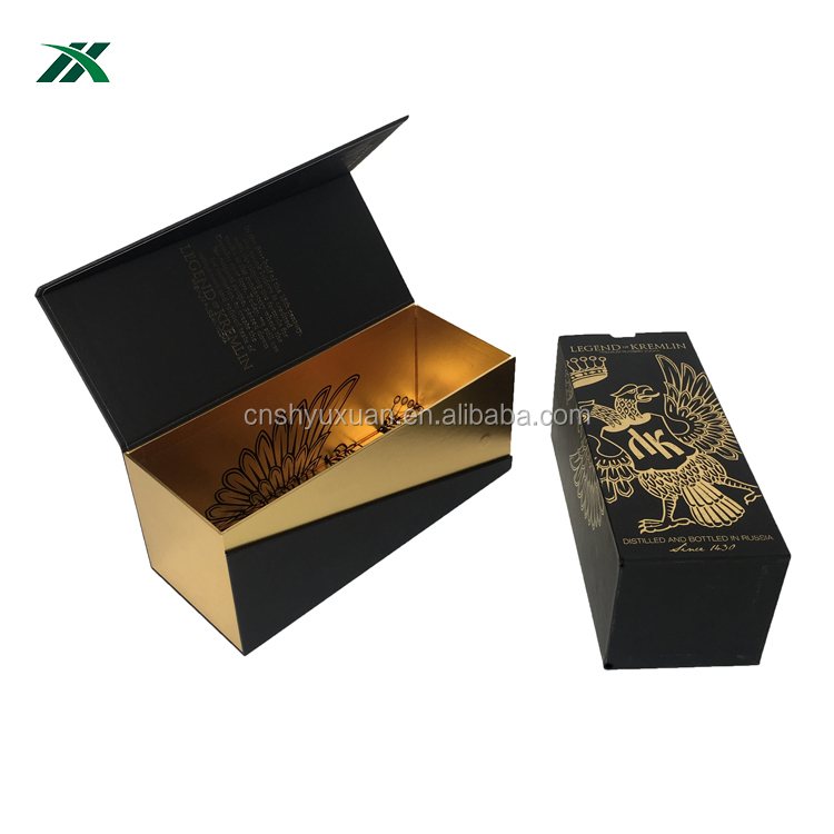 luxury custom cardboard champagne flute gift box packaging