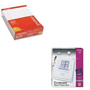 KITAVE75091UNV20630 - Value Kit - Avery Top-Load Poly Three-Hole Sheet Protectors (AVE75091) and Universal Perforated Edge Writing Pad (UNV20630)
