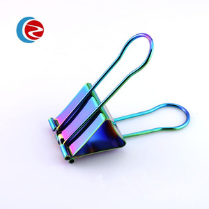 19mm,25mm,32mm rainbow color high quality binder clip in a box