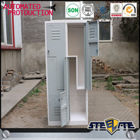 New modern metal z style lockers/ double color wardrobe design furniture bedroom wholesale