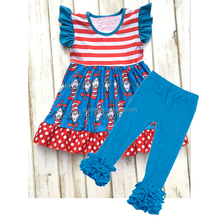 2017 new style Dr. Seuss clothing set Wholesale kids western wear boutique outfits for baby girls